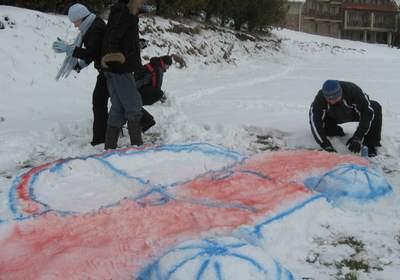Зимний тимбилдинг. Конкурс снежных фигур