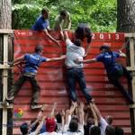 Стена. Упражнение Веревочного курса